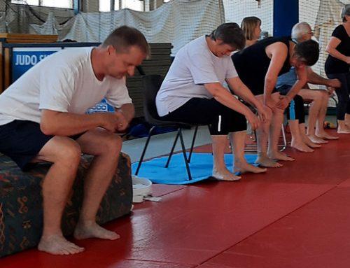 Judo-based exercise for fall prevention